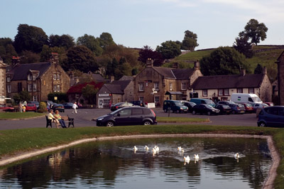 Pond at the centre of Hartington